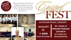 Gospel Fest - Outdoor Music Concert @ St. Paul's Presbyterian Church